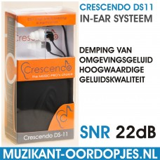 Crescendo DS11 In-Ear Monitor Systeem Inline Microphone